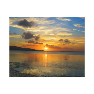 Sunset over Adelup. Canvas Print