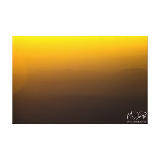Sunset Over Afghanistan Mountains Stretched Canvas