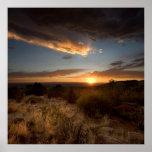 Sunset Over Albuquerque Desert Poster