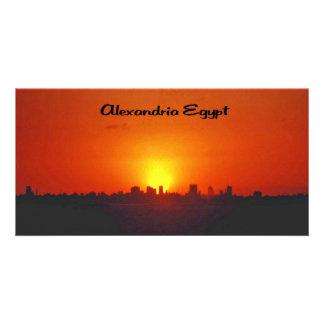 Sunset over Alexandria Egypt Card