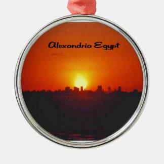 Sunset over Alexandria Egypt Christmas Ornament
