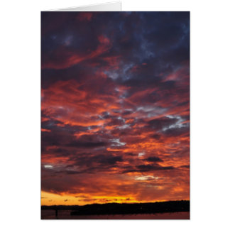 Sunset over Auckland Card