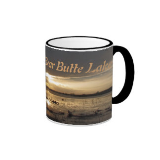 Sunset Over Bear Butte Lake Ringer Mug