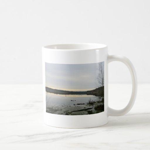 Sunset over Blakemere Moss in Winter Coffee Mug