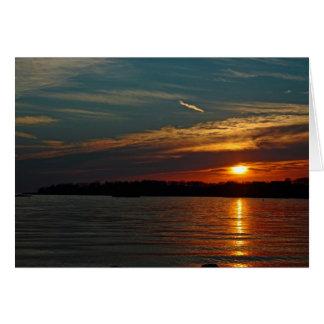 Sunset Over Branford Harbor greeting card