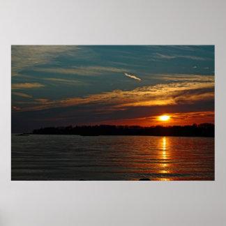 Sunset Over Branford Harbor poster