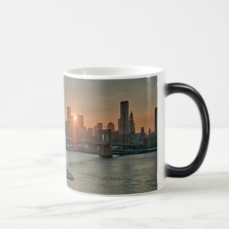 Sunset over Brooklyn Bridge Mug