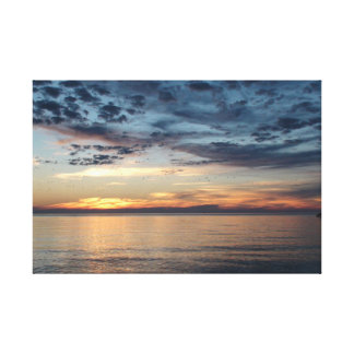 Sunset over Buzzard's Bay, Sky full of Birds Canvas Print
