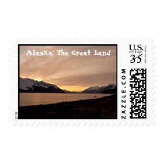 Sunset Over Cannery Bay; Alaska Souvenir Postage