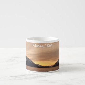Sunset Over Cannery Bay; Alaska Souvenir Espresso Mug