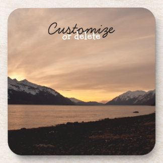 Sunset Over Cannery Bay; Customizable Beverage Coaster
