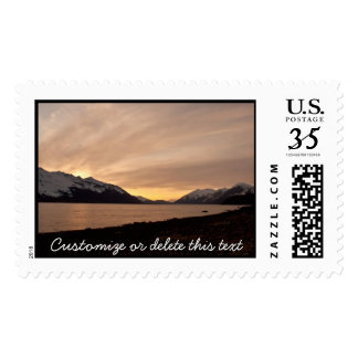 Sunset Over Cannery Bay; Customizable Postage