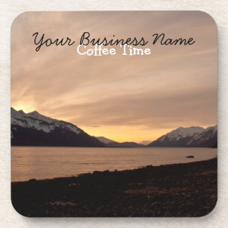 Sunset Over Cannery Bay; Promotional Drink Coaster