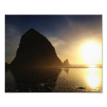 Sunset over Cannon Beach, Oregon Photo Print