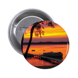 Sunset over Castlerock Lake Pinback Button