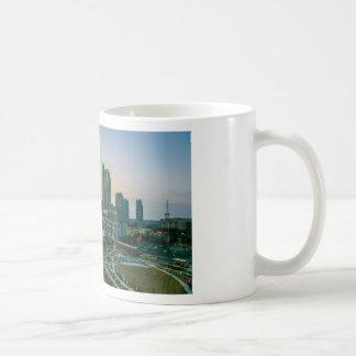sunset over charlotte north carolina evening commu coffee mug