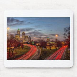 sunset over charlotte north carolina evening commu mouse pad