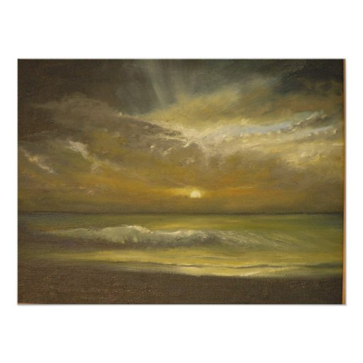 Sunset Over Chesil Beach Poster