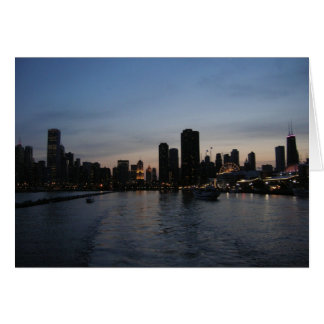 Sunset over Chicago Greeting Card