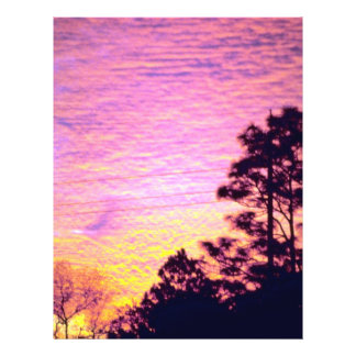 Sunset over Citrus County Florida Personalized Flyer