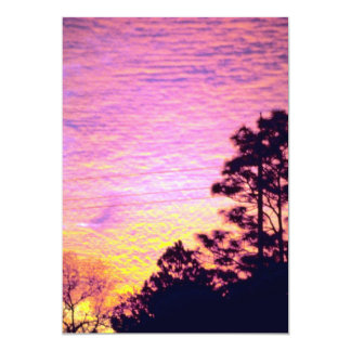 Sunset over Citrus County, Florida 5x7 Paper Invitation Card