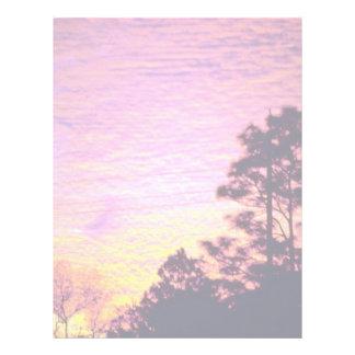 Sunset over Citrus County, Florida Letterhead Template
