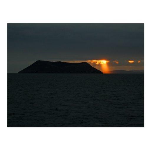 Sunset over Daphne Major Postcard