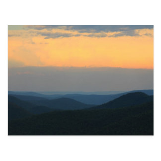 Sunset over Deerfield River from East Mountain Postcard