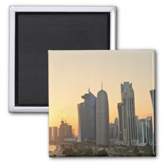Sunset over Doha, Qatar magnet