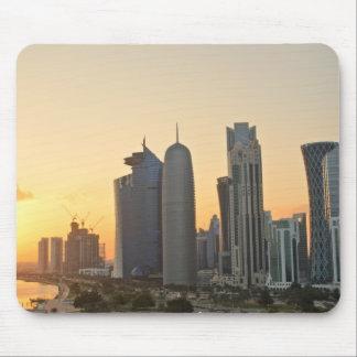 Sunset over Doha, Qatar mousepad