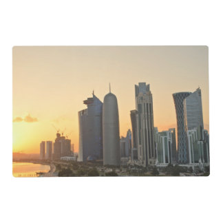 Sunset over Doha, Qatar placemat