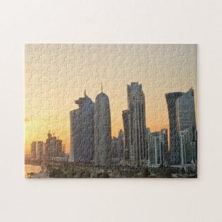 Sunset over Doha, Qatar Puzzles