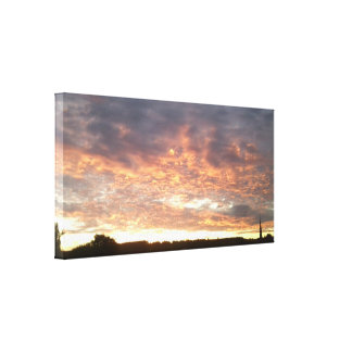 Sunset over Dorking Wrapped Canvas Small