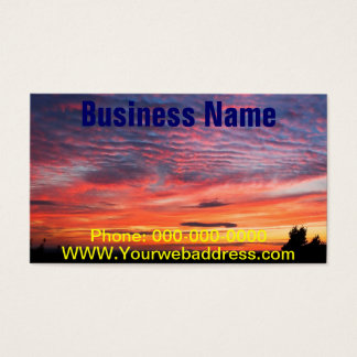 Sunset over Eagle Lake Acadia National Park Business Card