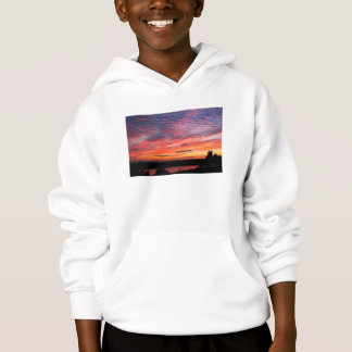 Sunset over Eagle Lake Acadia National Park Hoodie