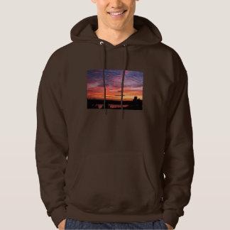 Sunset over Eagle Lake Acadia National Park Hoodie