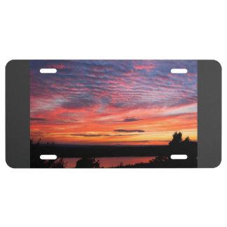 Sunset over Eagle Lake Acadia National Park License Plate