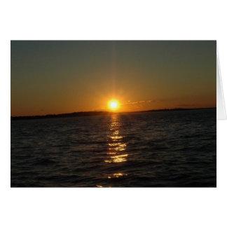 Sunset Over Eastern Massachusetts Card
