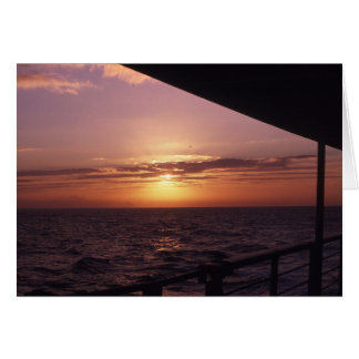 Sunset over English Channel Card