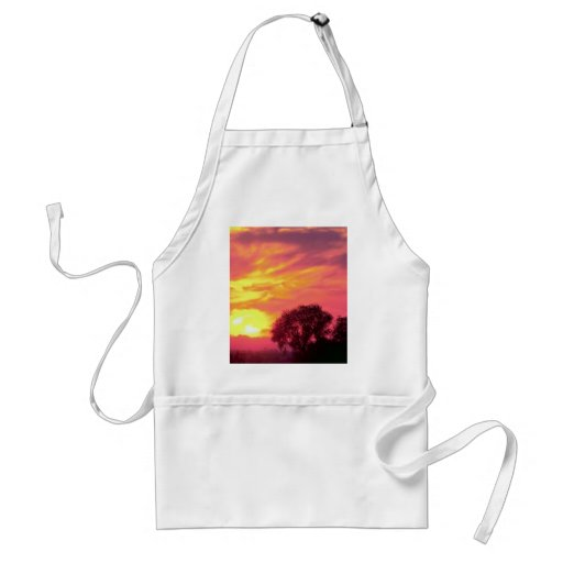 Sunset over farmland, great American Southwest Adult Apron