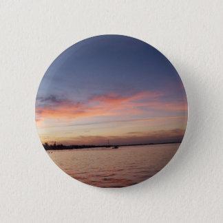 Sunset over Florida Bay, Key Largo FL Pinback Button