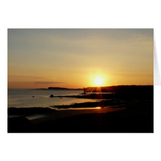 Sunset over Galway Bay Card