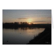 Sunset over Harthill Ponds.