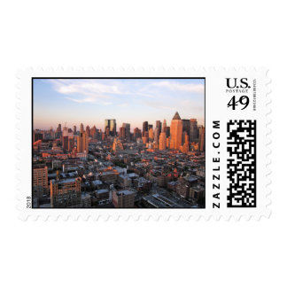 Sunset Over Hell's Kitchen Postage Stamp