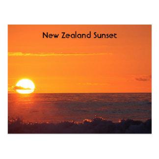 Sunset over Hokitika New Zealand Post Card