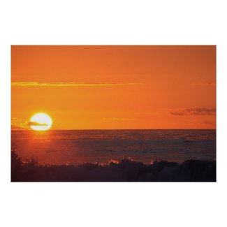 Sunset over Hokitika New Zealand print