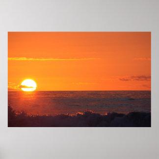 Sunset over Hokitika New Zealand Poster