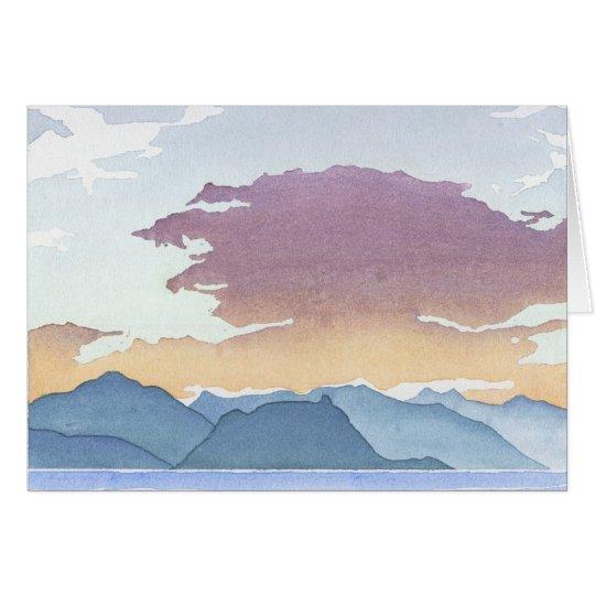 Sunset Over Howe Sound Card