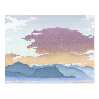 Sunset Over Howe Sound Postcard