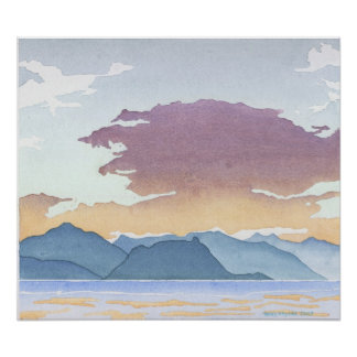 Sunset Over Howe Sound Poster